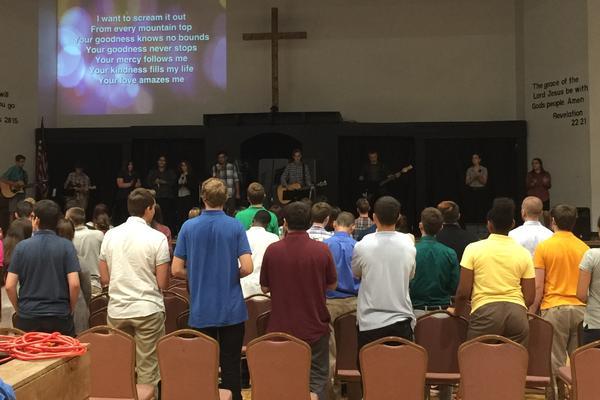 Worship time during chapel